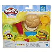 Play-doh Kitchen Creations Burger Bash With 4 Cans Of Compounds Hasbro New