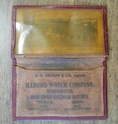Rare Vintage Illinois Watch Co Leather Photo Wallet Card Case Db Ryland Railroad