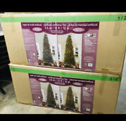 12and039 Pre-lit Micro Led Artificial Christmas Tree Winter Family Happy Holidays