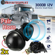 2x 300db 12v Electric Snail Air Horn Loud Sound For Car Motorcycle Truck Boat Rv