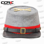 American Civil War Confederate Artillery Style Kepi With Badge All Sizes