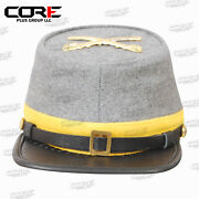 American Civil War Confederate Cavalry Style Kepi With Badge All Sizes