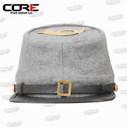 American Civil War Acw Confederate Kepi Hat With Infantry Badge All Sizes