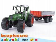 Bruder 02104 Fendt 209 S Tractor With Trailer Toy Farm Kids Set Christmas Gift