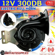 300db 12v Snail Air Electric Single Horn For Car Motorcycle Truck Boat Lorry Suv