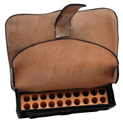 Civil War Us Union Cavalry Carbine Cartridge Box Ammo Pouch With Wooden Block