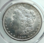 1900 United States Of America Silver Morgan Dollar Coin Eagle Pcgs Ms 65 I78506