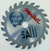 Tobin Bell Autographed Jigsaw Engraved Metal Mini Saw Blade Psa Authenticated