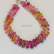 Old Mine Brazil Tourmaline Faceted Full Teardrop Beads 6 Inch Strand