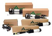 Arnott Front New And Rear Reman Air Struts Compressor Kit For Mb W220 4matic Abco