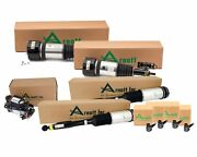 Arnott Front New And Rear Reman Air Struts And Compressor Sensors Kit For Benz W220