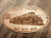 Union Pacific Big Boy 4014 Engine Engraved Wooden Sign