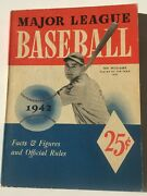1942 Major League Baseball Facts And Figures And Official Rules Ted Williams Cover