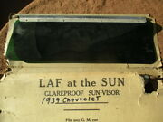 1939 Chevrolet Pair Of Glare Proof Glass Sun-visors Will Fit Any Gm Cars