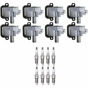 Denso 8 Ignition Coils 8 Double Platinum Spark Plugs 0.06 Kit For Chevy Gmc 8.1l