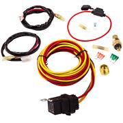 Dual Electric Cooling Fan Wiring Thermostat Relay Kit 185/165 Degree 30 40 Amp
