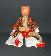 Mumonkan Ruusian Antique Doll Old Khottabych Vintage Original Clothes Ussr