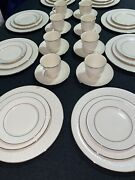 Dining Set For 8 Persons, American Home Collection, Lenox, Courtyard Platinum