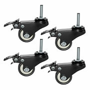 Plixio Piano Keyboard Stand Caster Wheels Heavy Duty Locking Replacement 4 Pack