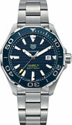 New Tag Heuer Aquaracer Blue Dial 300m Authentic Menand039s Watch Way201b.ba0927