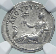 Hadrian Travels To Egypt Authentic Ancient 134ad Silver Roman Coin Ngc I87182