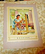 Vintage Menu Canada Steamship Lines Weaving French Canadian Cruise Tss Quebec