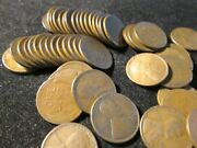 1926-s Lincoln Wheat Cent Solid Date Roll 50 Coin Good Plus