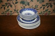 13- Vintage Blue Willow Royal China Usa 5 Cereal Bowls 8 Luncheon Plates
