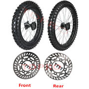 Dirt Pit Bike 16 And 19 Front Rear Wheel 70/100-19 90/100-16 Tire Rim Crf100 Ttr