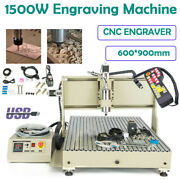 Usb 1.5kw 3 Axis Cnc 6090 Router Engraver Carving Milling Machine + Handwheel