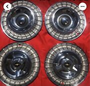 Set Of Four 4 1963 Ford T-bird Thunderbird Steel Wheel Covers Hubcaps