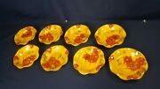Lot 8 Fleur Rouge Ambiance Ruffled Scalloped Edge Bread Butter Plate 7 Dia New