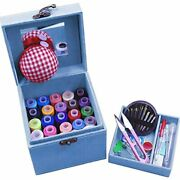 Tinton Life 2 Layers Sewing Kits With Vintage Box Accessories Supplies For Kids