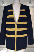 Sold Out Zadig And Voltaire Military Navy And Gold Trim Ville Deluxe Blazer Jacket S