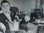 Rare Babe Ruth Original Photo Negative Trophy Room In His House 1945 8x10