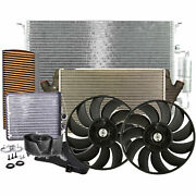 Valeo Condenser Air Cooler Blower Heater Cabin Air Filter Core 2fans Kit For 9-3