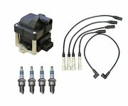 Denso Ignition Coil And Wire Set 4 Iridium Power Spark Plug Kit For Vw 1.8l L4 8v