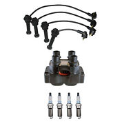 Denso Ignition Coil Wire Set 8mm And 4 Platinum Tt Spark Plugs Kit For Ford 2.0 L4