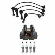 Denso Ignition Coil Wire Set 8mm And 4 Iridium Tt Spark Plugs Kit For Ford 2.0l L4