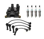 Denso Ignition Coil And Wire Set 4 Iridium Tt Spark Plug Kit For Ford Mercury L4