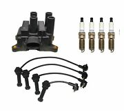 Denso Ignition Coil And Wire Set 4 Double Platinum Spark Plug Kit For Ford Mercury