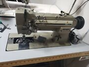 Singer 212 Double Industrial Sewing Machine Complete With Table And Electronics