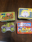 Lot Of 4 Vintage Lunch Boxes