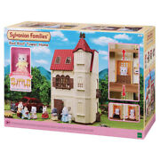 Sylvanian Families Red Roof Tower Home Gift Set Inc Cat Figure 5400 Role Play 3+