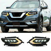For Nissan Rogue Headlights Projector All Led Drl Replace Oem Headlight 17-19