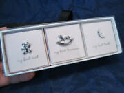 New Set Of 3 Wendy Bellissimo Keepsake Boxes For Baby Curl Tooth And Treasure