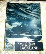 Vintage Illustrated Book Lackland Air Force Base Texas 1954 With Real Photos