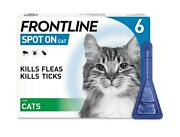 Frontline Spot On Fleatick And Lice Treatment For Cats -13 And 6 Pipettes -avm-gsl