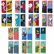 Official Peanuts Halfs And Laughs Leather Book Case For Wileyfox And Essential
