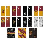 Official As Roma Crest Leather Book Wallet Case Cover For Asus Zenfone Phones